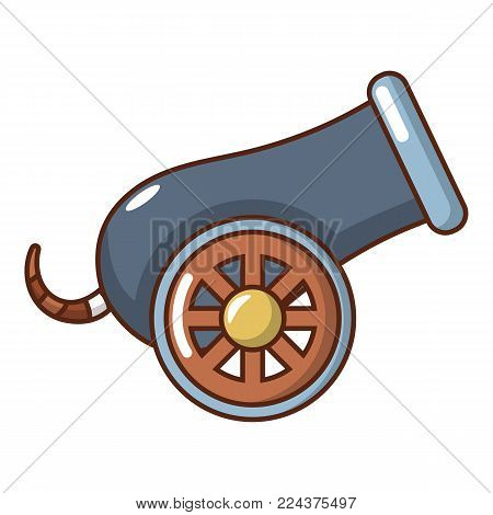 Anti-aircraft gun icon. Cartoon illustration of anti-aircraft gun vector icon for web.