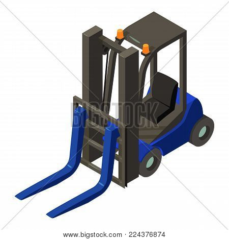 Loader equipment icon. Isometric illustration of loader equipment vector icon for web