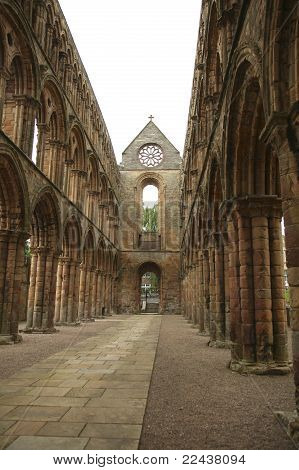 Interior Of Jedburgh Abbey