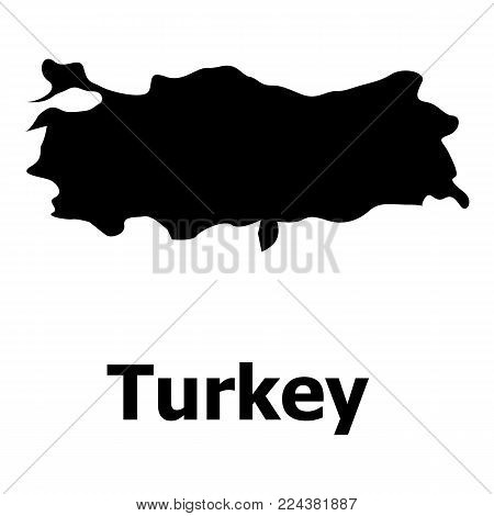 Turkey map icon. Simple illustration of turkey map vector icon for web
