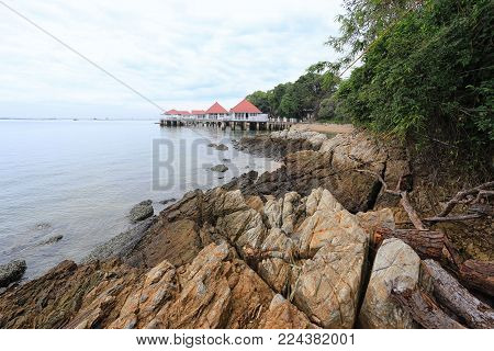House Bungalow In Coastal Sea Area,holiday Homes In The Chonburi Province Of Thailand.