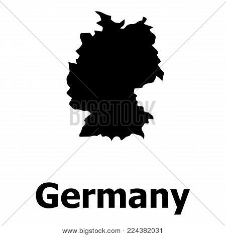 Germany map icon. Simple illustration of germany map vector icon for web