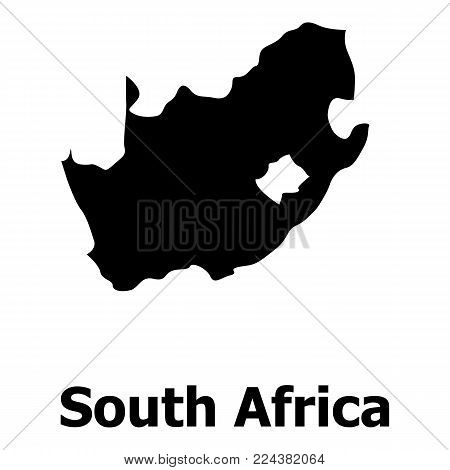 South africa map icon. Simple illustration of south africa map vector icon for web