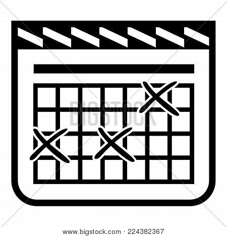 Calendar for schedule icon. Simple illustration of calendar for schedule vector icon for web