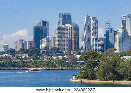 View of Skyline of Sydney CBD in daytime