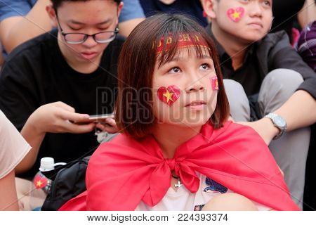 Portrait Of Vietnamese Football Fans