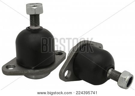 ball (it means a detail of a suspension bracket of a car) isolated under the white background