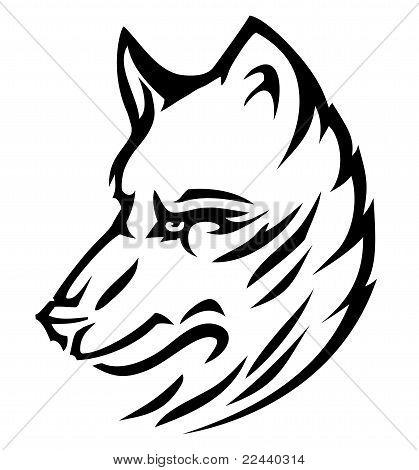 Wolf dog cute (vector)