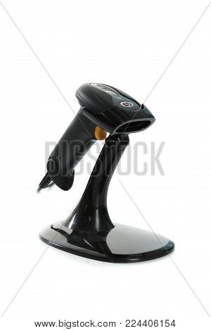 Gomel, Belarus - March 27, 2013: Barcode Scanner Firm Nts Gomel On A White Background.