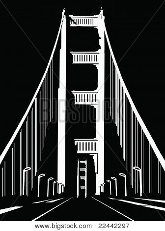 abstract black and white bridge