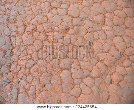 Dry cracked earth background, clay desert texture, natural, native
