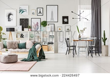 Spacious Living Room With Gallery