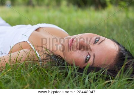 Portrait Of A Girl Outdoors