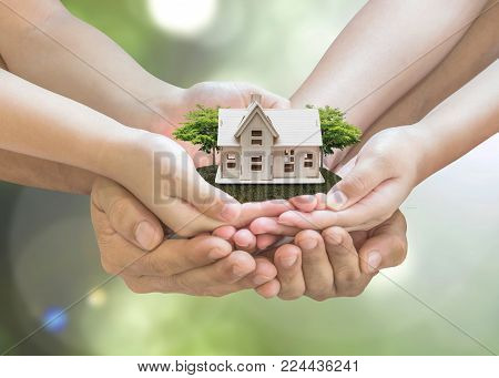 Home loan, car insurance, family assurance protection, and private property legacy planning concept