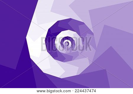 Spiral of rotating squares - ultraviolet background, Spiral from squares - purple pattern