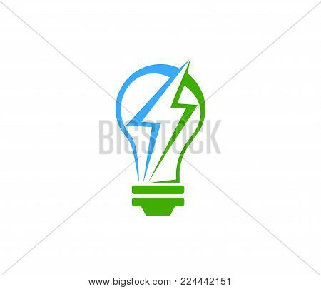 Stock Vector Idea Gear Logo Light Bulb Icon