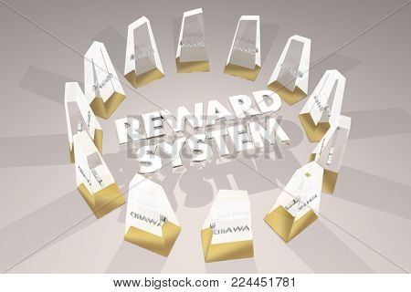 Reward System Awards Motivation Encouargement 3d Illustration