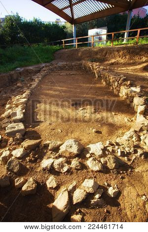 This is a prehistoric hut in archeological site in Milazzo (Sicily).This hut belongs to prehistorich village of the ancient bronze age from Sicily.