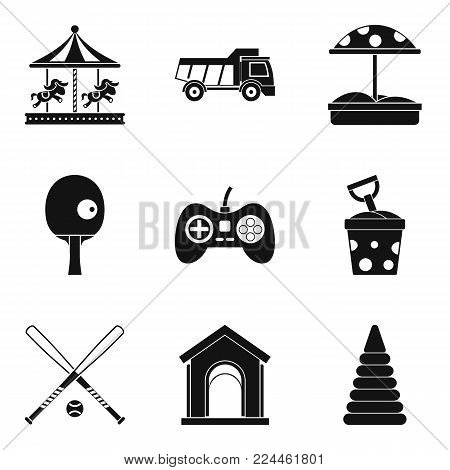 Maturation icons set. Simple set of 9 maturation vector icons for web isolated on white background