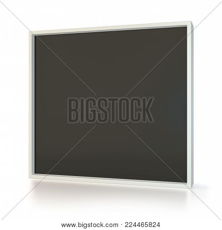 Advertising stand banner. 3d Illustration. Advertising display terminal stand. Isolated on white background.