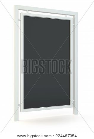 Outdoor advertising displays. Rolling poster display 3d Illustration. Advertising industry object. Isolated on white background. 3d illustration.