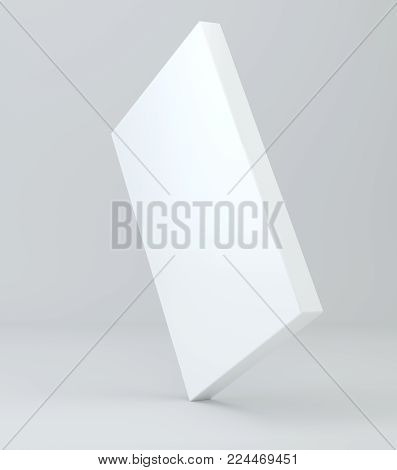 Blank white package product packaging paper cardboard box. 3d illustration