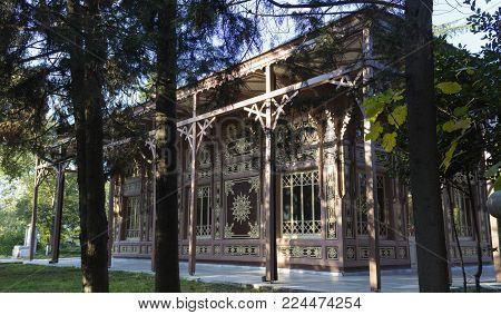 Abdulaziz Hunting Lodge, rear left side view - Istanbul - Turkey