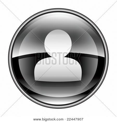 User Icon Black, Isolated On White Background