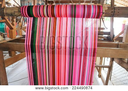 Weave Or Weave Silk Or Thai Silk