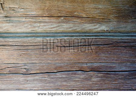 old wooden boards with scratched and scratched