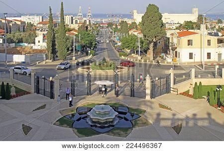 Cityscape Of Central Part Of City Haifa