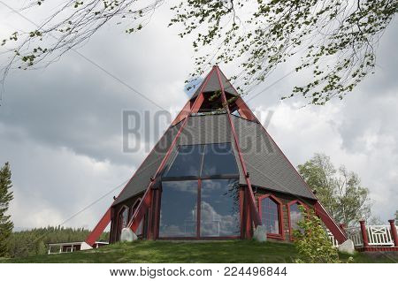 Modern church in the north of Sweden