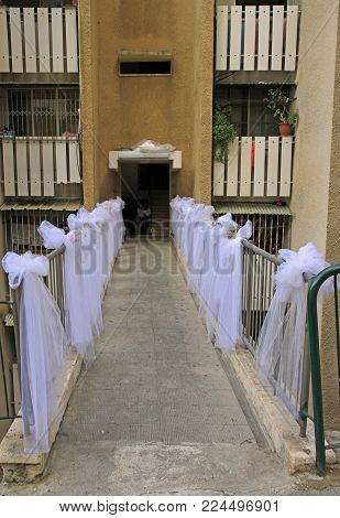 preparation for wedding in Haifa in Israel