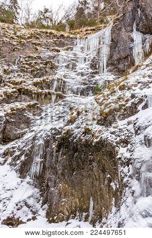 Slovakia National Park Mala Fatra, Janosikove Diery, Terchova - Outdoor Park In Winter, Paths In The