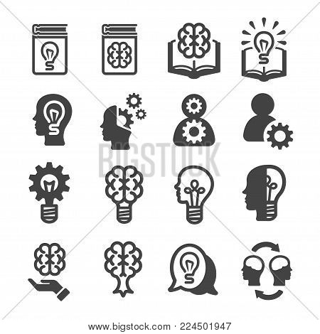 knowledge and innovation icon set vector illustration