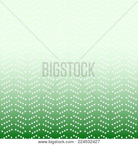 Geometric modern vector green and white pattern. Fine ornament with dotted elements. Geometric abstract pattern