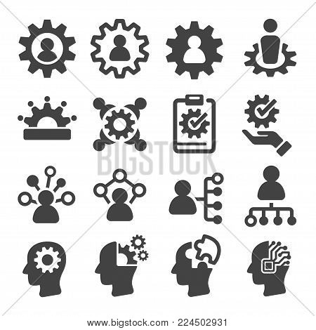 skill and ability icon set vector illustration