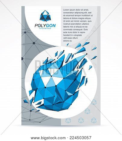Innovation Technologies Company Presentation Flyer. Graphic Vector Illustration. Isometric Abstract
