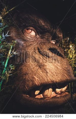 London, United Kingdom - August 24, 2017:  King Kong in Madame Tussauds wax museum in London