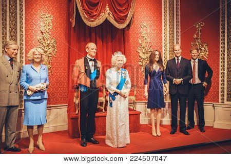 London, United Kingdom - August 24, 2017: Madame Tussauds Wax Museum In London
