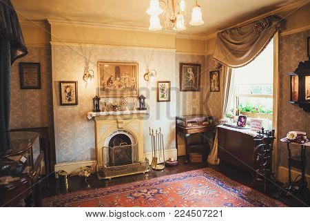 London - August 24, 2017: The Sherlock Holmes Museum Is Located On Baker Street And Is Dedicated To