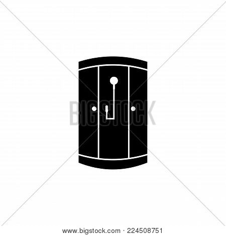 shower cabin icon. Bathroom and sauna element icon. Premium quality graphic design. Signs, outline symbols collection icon for websites, web design, mobile app, info graphics on white background