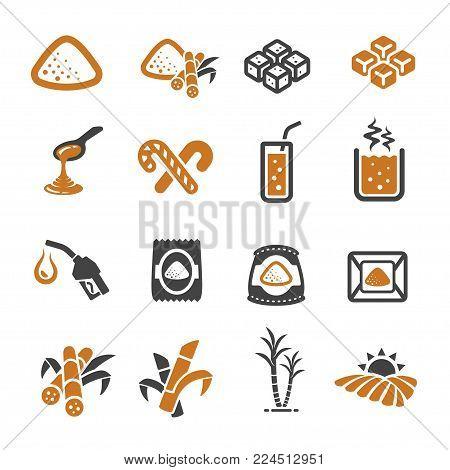 cane icon set food icon vector illustration