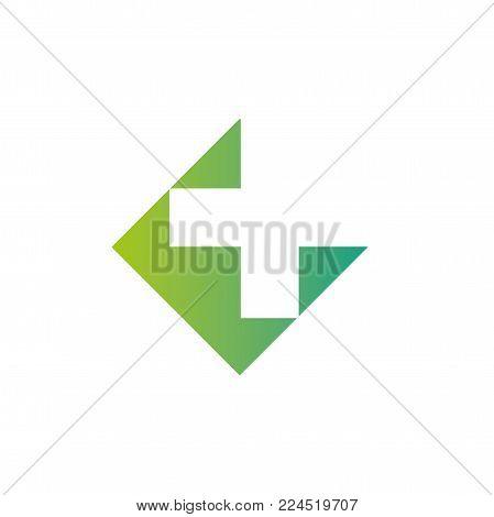 Pharmacy Logo Medicine Green Cross Abstract Design Vector Template. Eco Bio Natural Medical Clinic I
