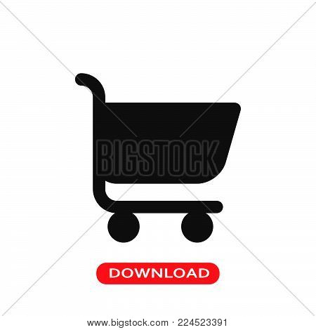 Shopping Cart icon vector in modern flat style for web, graphic and mobile design. Shopping Cart icon vector isolated on white background. Shopping Cart icon vector illustration, editable stroke and EPS10. Shopping Cart icon vector simple symbol for app,