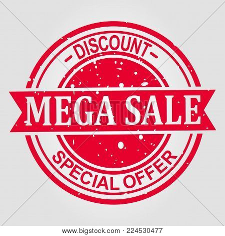 Special offer sale red tag isolated vector illustration. Discount offer price label, symbol for advertising campaign in retail, sale promo marketing, ad offer on shopping day