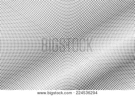 Black White Subtle Diagonal Dotted Gradient. Half Tone Vector Background. Shiny Dotted Halftone. Abs
