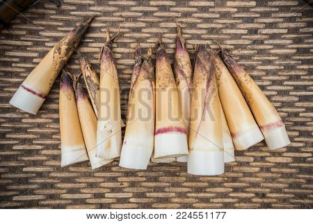 Raw bamboo shoot in local fresh market