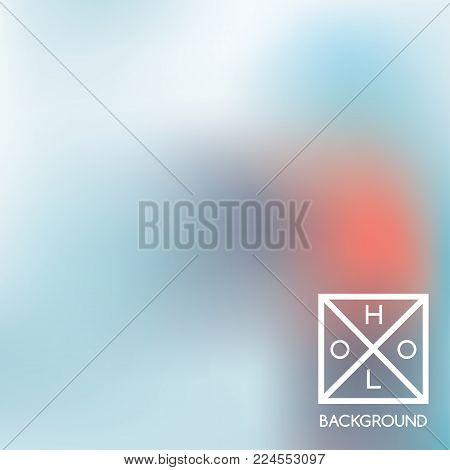 Navy blue and red background. Iridescent cover.  Abstract neon colors backdrop.  Trendy creative vector cosmic gradient. Mesh blue foil.  Creative neon template for banner. Iridescent print.