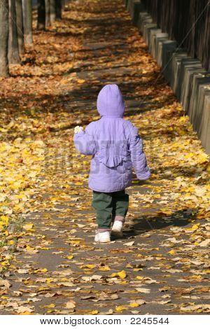Small Girl Walking